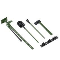 AUSTAR 4PCS RC Decoration Tools Set Kit RC Accessories for 1:10 RC Rock Crawler green