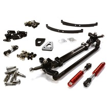 INTEGY Front Beam Axle w/ Steering & Suspension Setup for Custom 1/14 Semi-Tractor