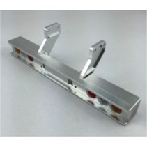 ALLOY REAR TRAILER BUMPER BAR WITH ROUND LENS  SUITS TAMIYA 1/14 TRACTOR TRUCK TRAILERS