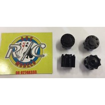 ACE 1:14 TRUCK HUBS  BLACK 2 PAIRS ( ENOUGH FOR 2 AXLES )
