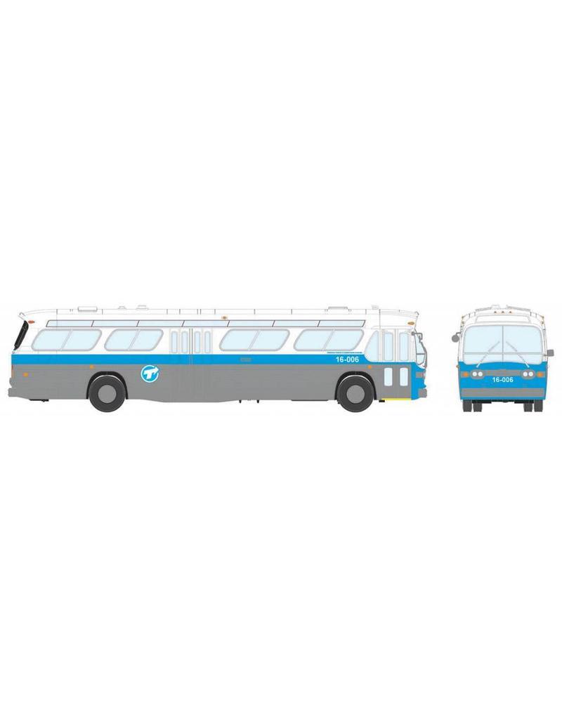 MODÈLE ÉCHELLE 1/87 - Autobus New Look bleu C.T.C.U.M.  Édition Deluxe #17-006