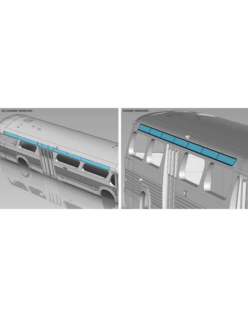 C.T.C.U.M. New Look blue Bus - Standard edition - 1/87 scale - #17-025