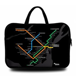 "Sac d'ordinateur portable 15"" - Plan du metro (MV4515-B)"