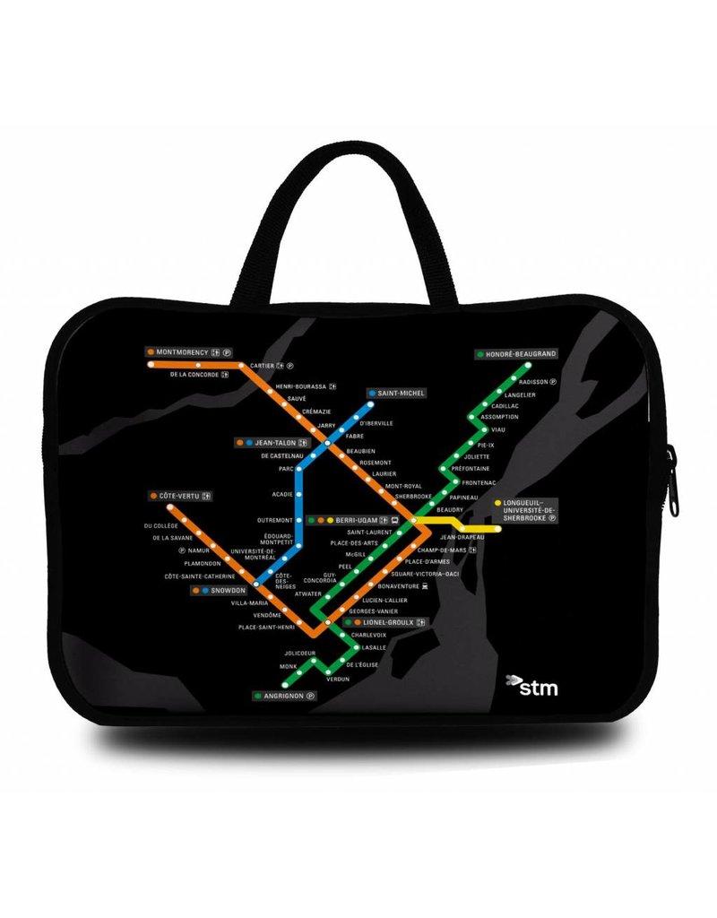 """Sac d'ordinateur portable 15"""" - Plan du metro (MV4515-B)"""