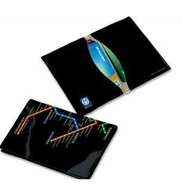 Porte-cartes en cuir vegan RFID - Plan du metro