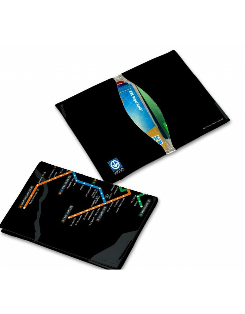 Porte-cartes en cuir vegan RFID - Plan du metro (MV3095)