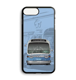 Custom phone case - New Look blue bus