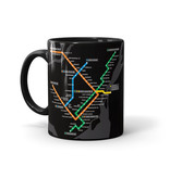 TASSE  - Plan du métro noir