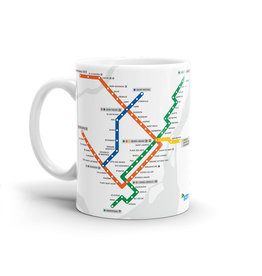 CUP- Montreal Metro map (White)