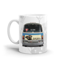 TASSE 11oz - Autobus New Look Bleu