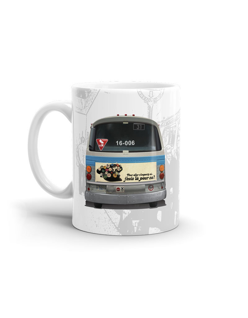 CUP 11oz - New Look bus blue