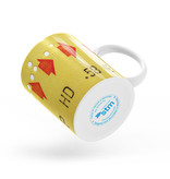 CUP 11oz - Yellow transfer ticket
