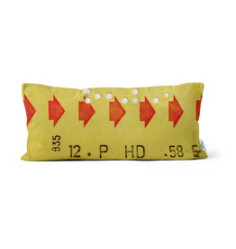 "PILLOW - Yellow transfer ticket      10"" x 20"""