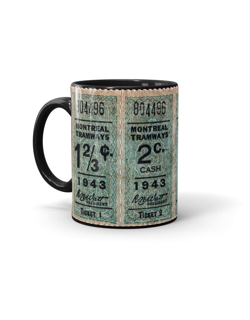 TASSE noir 11oz - Billets 1c, 2c, 3c