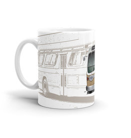 TASSE 11oz - Autobus New Look brun
