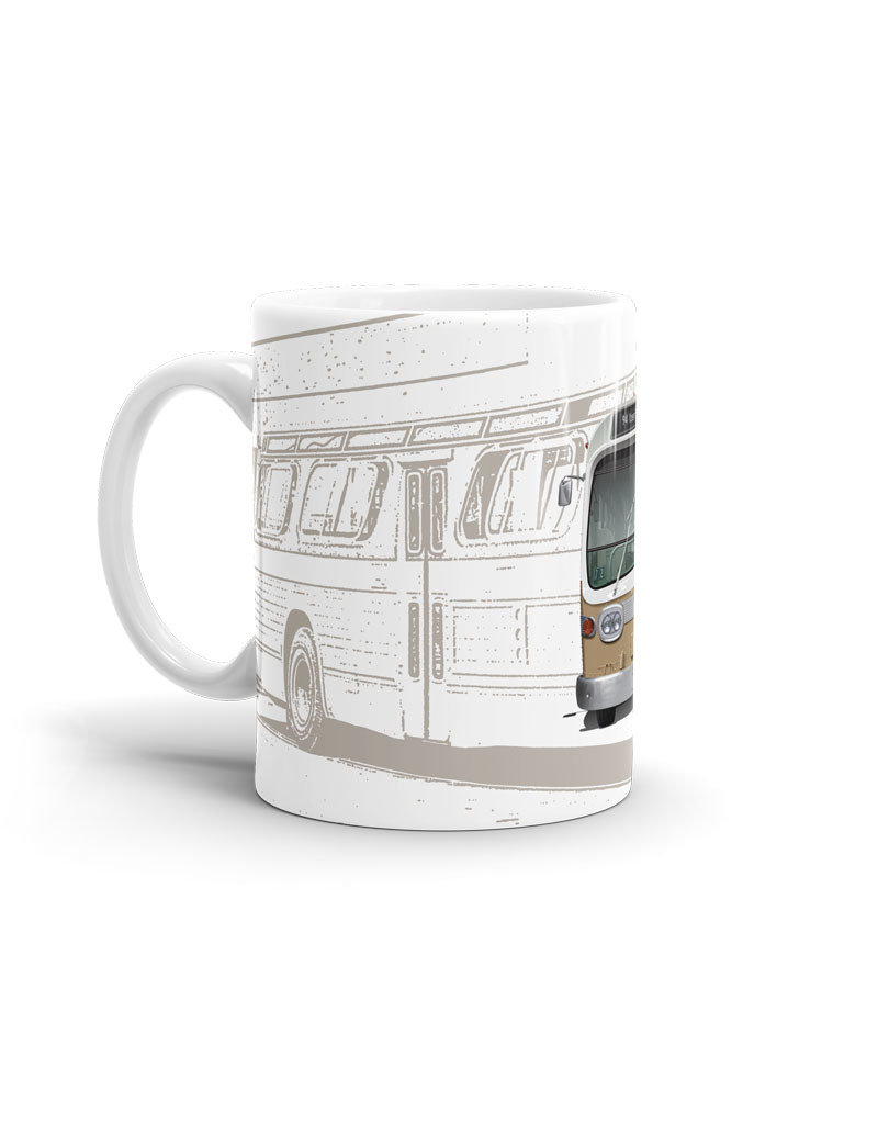 CUP 11oz - Brown New Look bus