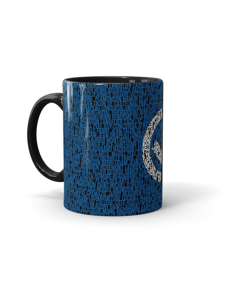 Metro stations 110z black mug