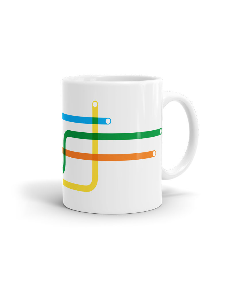 11oz white cup -  Lines