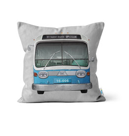"PILLOW - New Look bus  14"" x 14"""