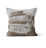 PILLOW - Brown New Look  bus 14x14 - #97 Mont-Royal
