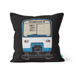 "PILLOW - MR-63 & Métro logo 14"" x 14"""
