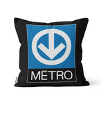 PILLOW - Montreal Metro map + Metro logo