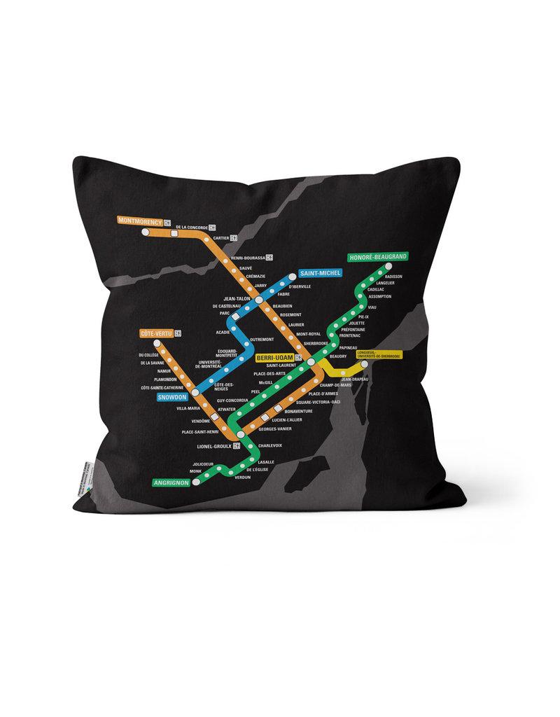 COUSSIN - Plan du métro noir  2016 / 2013