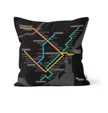 PILLOW - Montreal black Métro map   2016/2013
