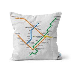 COUSSIN - Plan du Métro blanc + logo métro