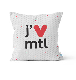 PILLOW - j'V mtl white