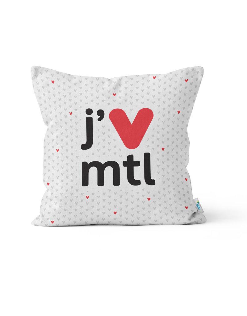 PILLOW - j'V mtl white