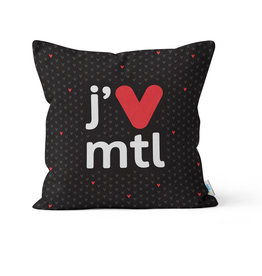 PILLOW - j'V mtl black