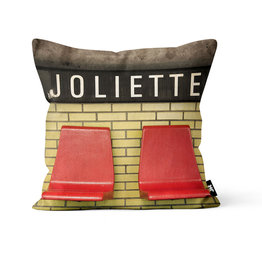 "Coussin - Joliette (Jesse Riviere)  14"" x 14"""