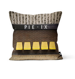 "Pillow - Pie-IX (Jesse Riviere collection)  16"" x 16"""