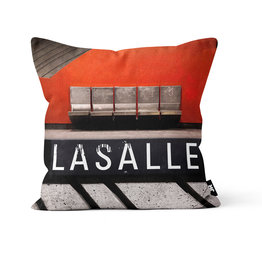 "Pillow - Lasalle (Jesse Riviere)  16"" x 16"""