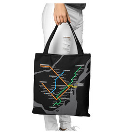 Canvas bag - Metro map / Metro logo