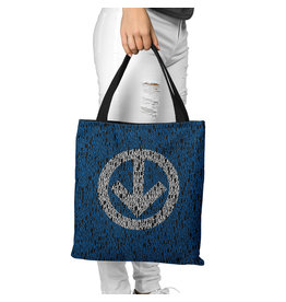 Canvas bag with Metro station names