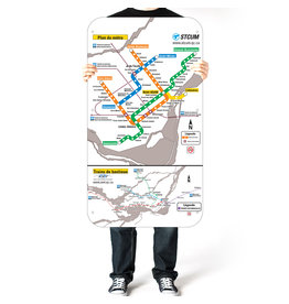 Official Montreal Metro map - 2001 version