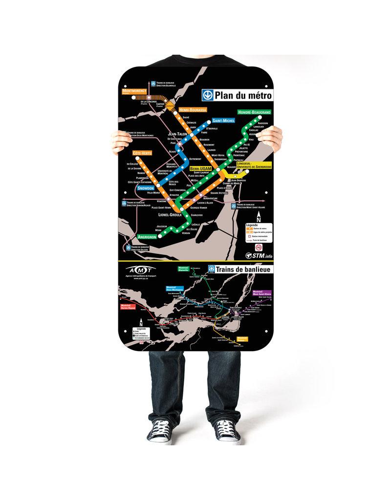 Affiche officielle du métro de Montréal - Version 2004