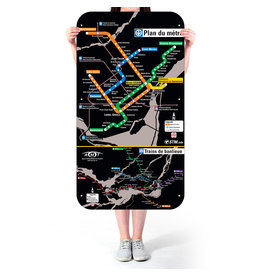 Official Montreal Metro map - 2007 version