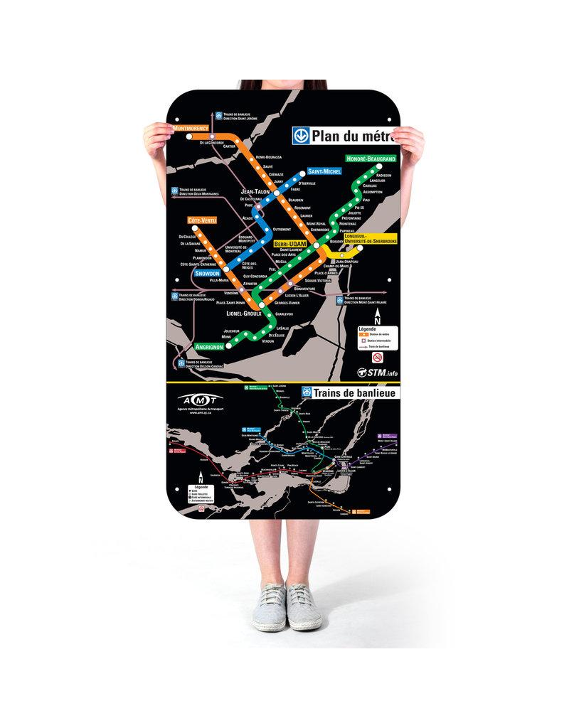 Affiche officielle du plan du métro de Montréal – Version 2007