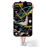 Affiche officielle du plan du métro de Montréal – Version 2003