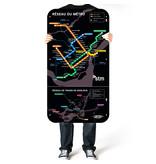 Affiche officielle du plan du métro de Montréal – Version 2012