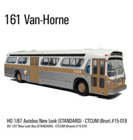 C.T.C.U.M. New Look brown Bus - Standard edition - 1/87 scale - #15-018