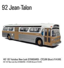 MODÈLE ÉCHELLE 1/87 - Autobus New Look brun C.T.C.U.M.  Édition Standard #14-045