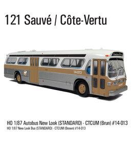 MODÈLE ÉCHELLE 1/87 - Autobus New Look brun C.T.C.U.M.  Édition Standard #14-013