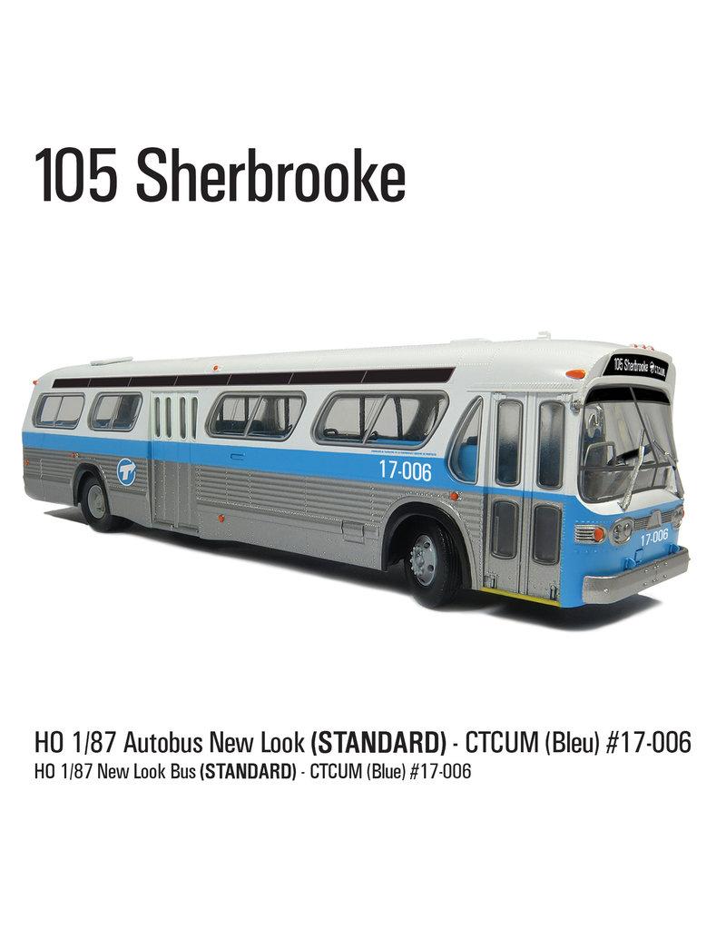 C.T.C.U.M. New Look blue Bus - Standard edition - 1/87 scale - #17-006