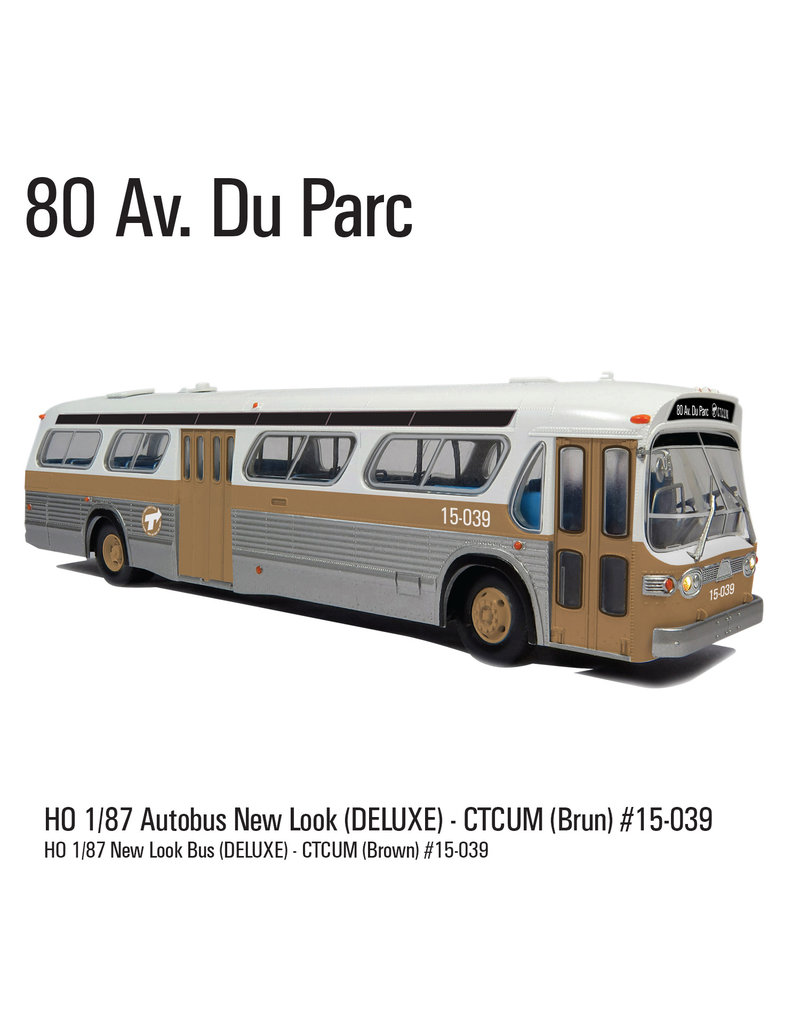C.T.C.U.M. New Look brown Bus - Deluxe edition - 1/87 scale - #15-039