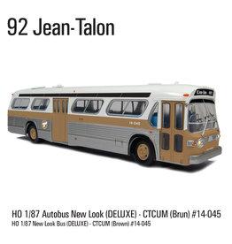 MODÈLE ÉCHELLE 1/87 - Autobus New Look brun C.T.C.U.M.  Édition Deluxe #14-045