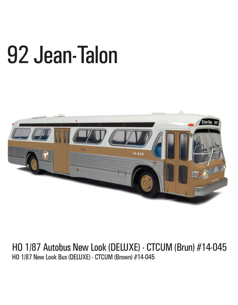 C.T.C.U.M. New Look brown Bus - Deluxe edition - 1/87 scale - #14-045